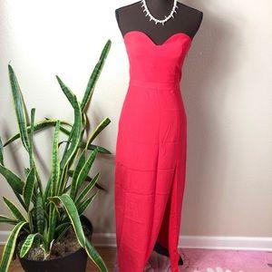 NBD || Strapless Sweetheart Full Length Dress